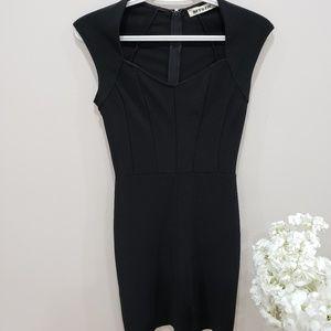 Structured little black dress